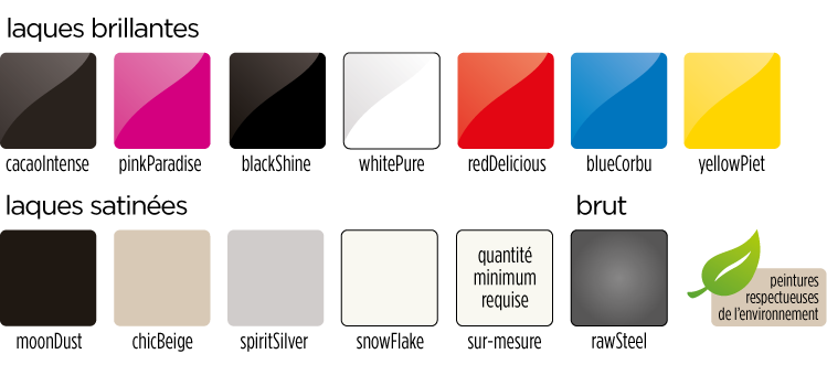 nuancier de couleurs Quad