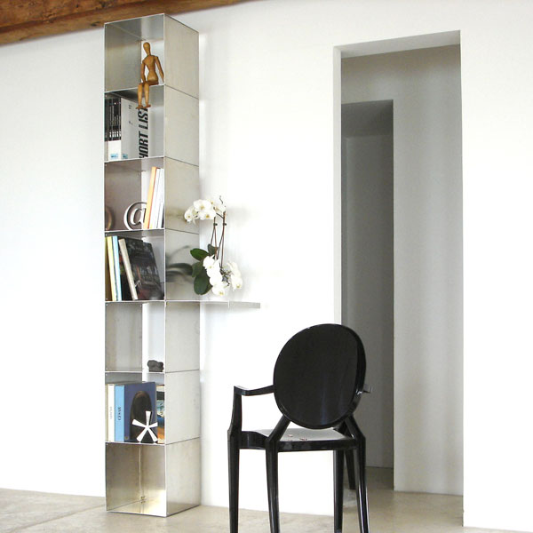 Biblioth ques design tag res modulables cubes de - Etagere metallique modulable ...
